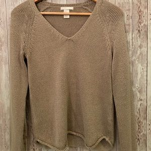 H&M tan V-neck sweater